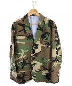 Lafayette(ラファイエット)の古着「3Bカモテーラードジャケット」|グリーン×ブラウン