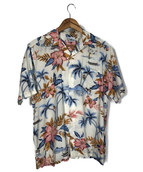 reyn spooner(レインスプーナー)reyn spooner (レインスプーナー) アロハシャツ アイボリー サイズ:Mの古着・服飾アイテム