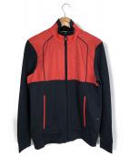 HUGO BOSS(ヒューゴボス)の古着「ジップジャケット」|ネイビー×レッド