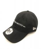 YOHJI YAMAMOTO×NEW ERA(ヨウジヤマモト×ニューエラ)の古着「20SS 9THIRTY ロゴキャップ」|ブラック