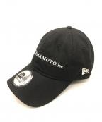 YOHJI YAMAMOTO×New Era(ヨウジヤマモト×ニューエラ)の古着「20SS 9THIRTY ロゴキャップ」 ブラック