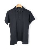 DESCENTE(デサント)の古着「鹿の子ポロシャツ」|ブラック