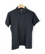 DESCENTE(デサント)の古着「鹿の子ポロシャツ」 ブラック