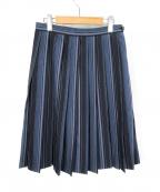 MARGARET HOWELL(マーガレットハウエル)の古着「マルチストライプスカート」 ブルー