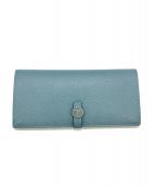 LANVIN(ランバン)の古着「長財布」|ブルー