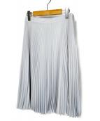 PRADA(プラダ)の古着「プリーツスカート」 ライトブルー