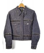 VERSACE(ヴェルサーチ)の古着「デニムジャケット」|ブラック