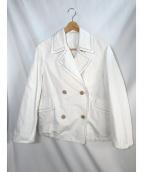 BRUNELLO CUCINELLI(ブルネロクチネリ)の古着「ダブルジャケット」|ホワイト