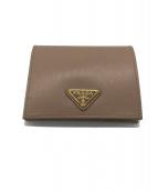 PRADA(プラダ)の古着「2つ折り財布」|ベージュ