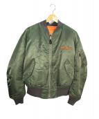 AVIREX(アビレックス)の古着「MA-1ジャケット」|セージグリーン