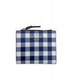 ()の古着「2つ折り財布」 ブルー×ホワイト
