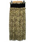 CLANE(クラネ)の古着「タペストリープリーツフラワースカート」|グリーン
