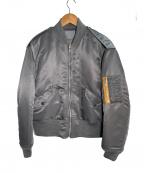 SEASONING(シーズニング)の古着「MA-1ジャケット」|グレー