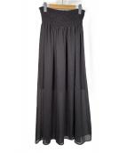 ()の古着「サテンプリーツスカート」|ブラック