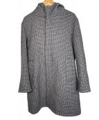 ()の古着「ダブルメルトンフーデッドコート」|グレー