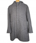BEAUTY&YOUTH(ビューティアンドユース)の古着「ダブルメルトンフーデッドコート」 グレー