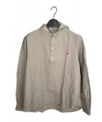 ()の古着「ロングスリーブシャツ」 ベージュ