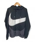 NIKE(ナイキ)の古着「ラインドジャケット」|ブラック×ホワイト