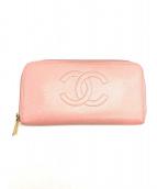 CHANEL(シャネル)の古着「ラウンドファスナー財布」 ピンク