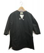 VONDEL(フォンデル)の古着「別注オーバーVネックコート」|ブラック