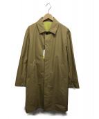 COMME CA COMMUNE(コムサコミューン)の古着「フィールグリーンタイプステンカラーコート」|ベージュ