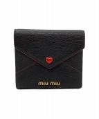 MIU MIU(ミュウミュウ)の古着「財布」|ブラック×レッド