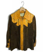 Char(チャー)の古着「[古着]ヴィンテージレザーシャツ」|ブラウン