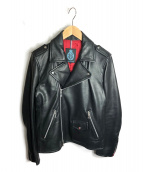 GUILD PRIME(ギルドプライム)の古着「ダブルライダースジャケット」|ブラック