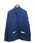 SKOOKUM(スクーカム)の古着「ヘチマ襟カーディガン」|ブルー