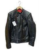 Lewis Leathers(ルイスレザーズ)の古着「レザーライダースジャケット」|ブラック