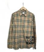 BURBERRY LONDON ENGLAND(バーバリー ロンドン イングランド)の古着「チェックシャツ」 ベージュ