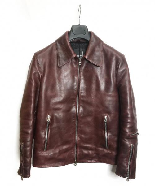 dunhill(ダンヒル)dunhill (ダンヒル) レザージャケット レッド サイズ:XS 秋冬物の古着・服飾アイテム