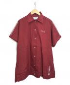 Hilton(ヒルトン)の古着「ボーリングシャツ」 エンジ
