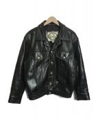 BIG TWIN(ビッグツイン)の古着「ライダースジャケット」|ブラック