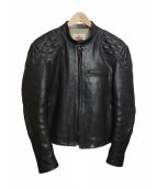 THE FLAT HEAD(ザフラットヘッド)の古着「レザーモーターズジャケット」|ブラック