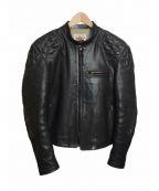 THE FLAT HEAD(ザ・フラットヘッド)の古着「レザーモーターズジャケット」|ブラック