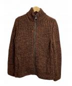 LOUIS VUITTON()の古着「ニットジャケット」 ブラウン