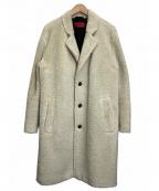 HUGO BOSS()の古着「テディコート」 ホワイト