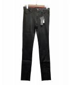 DIESEL(ディーゼル)の古着「レザーパンツ」 ブラック