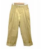 CHAOS GENTLEMAN LADY(カオス ジェントルマン レディ)の古着「ワイドタックパンツ」 ベージュ