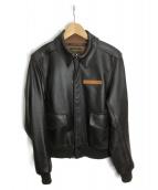 AVIREX(アビレックス)の古着「レザージャケット」|ブラウン