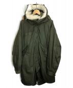 VINTAGE MILITARY(ヴィンテージ ミリタリー)の古着「[古着]M-65 フルセットモッズコート」|カーキ