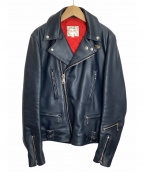 Lewis Leathers(ルイスレザース)の古着「ダブルライダースジャケット」 ネイビー