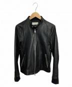 HARE()の古着「シングルライダースジャケット」|ブラック