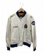 Buzz Ricksons(バズリクソンズ)の古着「ツアージャケット」 ホワイト×ネイビー