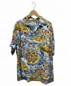 NO BLAND(ノーブランド)の古着「ヴィンテージアロハシャツ」 ブルー