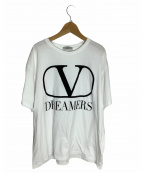 VALENTINO(ヴァレンティノ)の古着「VロゴDREAMERS TEE」 ホワイト
