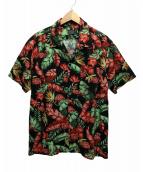 ()の古着「アロハシャツ」|レッド×ブラック