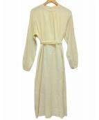 ()の古着「Crape Apron Dress」|ベージュ