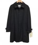 FREAK'S STORE(フリークスストア)の古着「カシミヤウールステンカラーコート」|ブラック